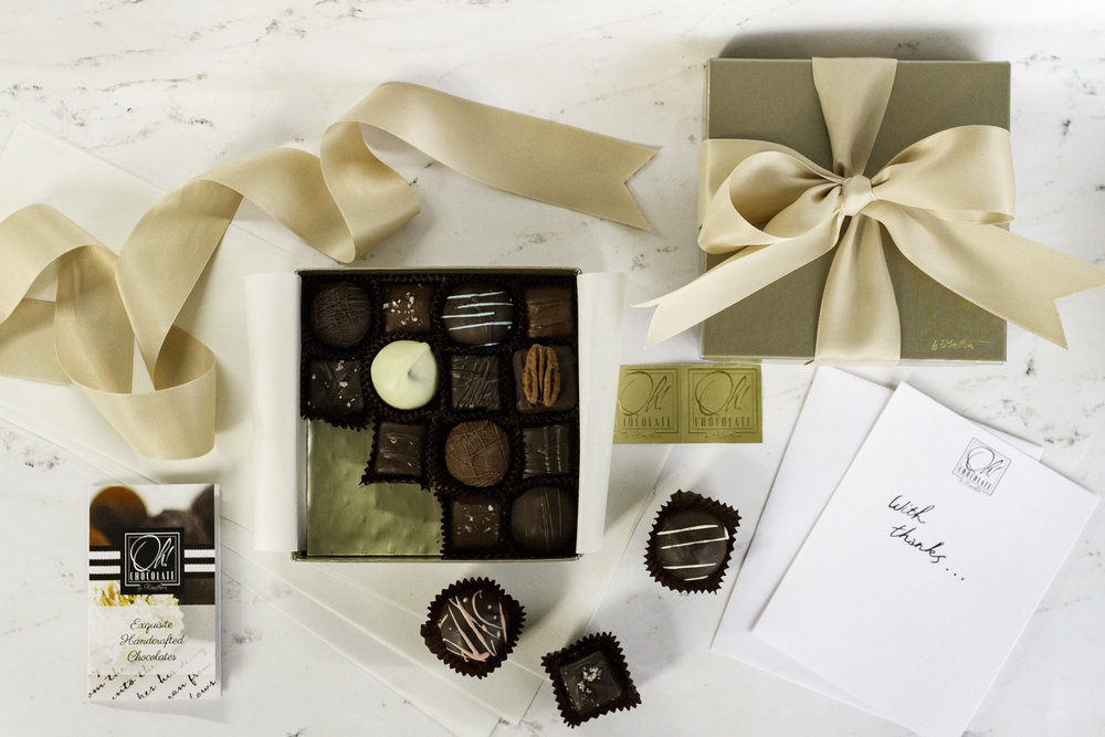 - Whether you are congratulating a colleague on a promotion, thanking a valued team member or connecting with an important client, give the gift of premium quality truffles and caramels, gorgeously packaged and designed to impress. Available exclusively on the Oh! Chocolate website!