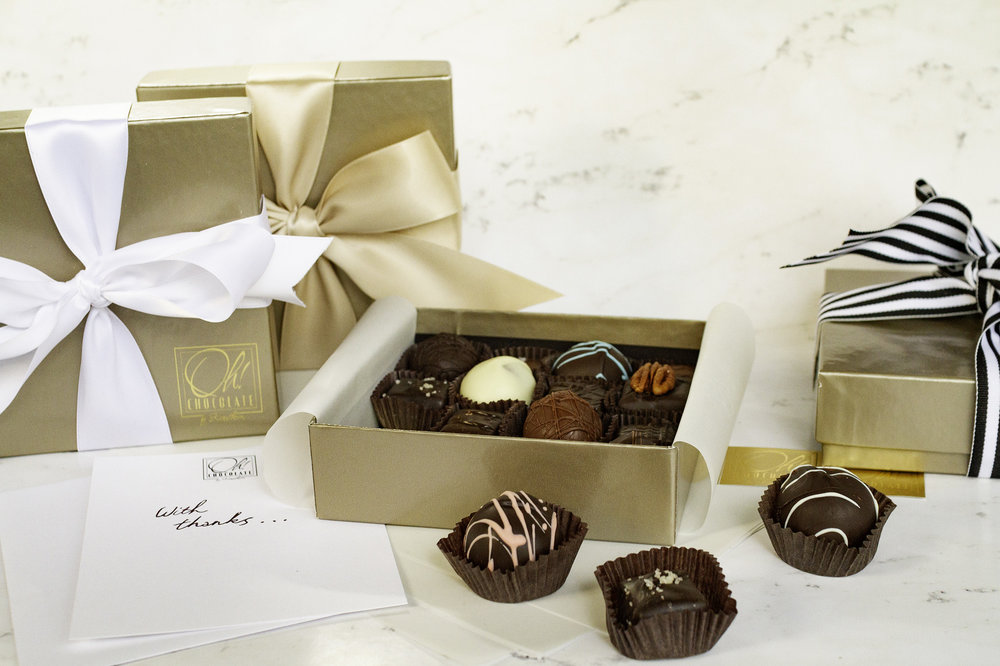 - From graduation gifts to holiday indulgence, a statement box is a perfect present for those special occasions that deserve the best. Each 16-piece box features an impressive selection of the finest chocolates, artfully created by expert chocolatiers in the French style.