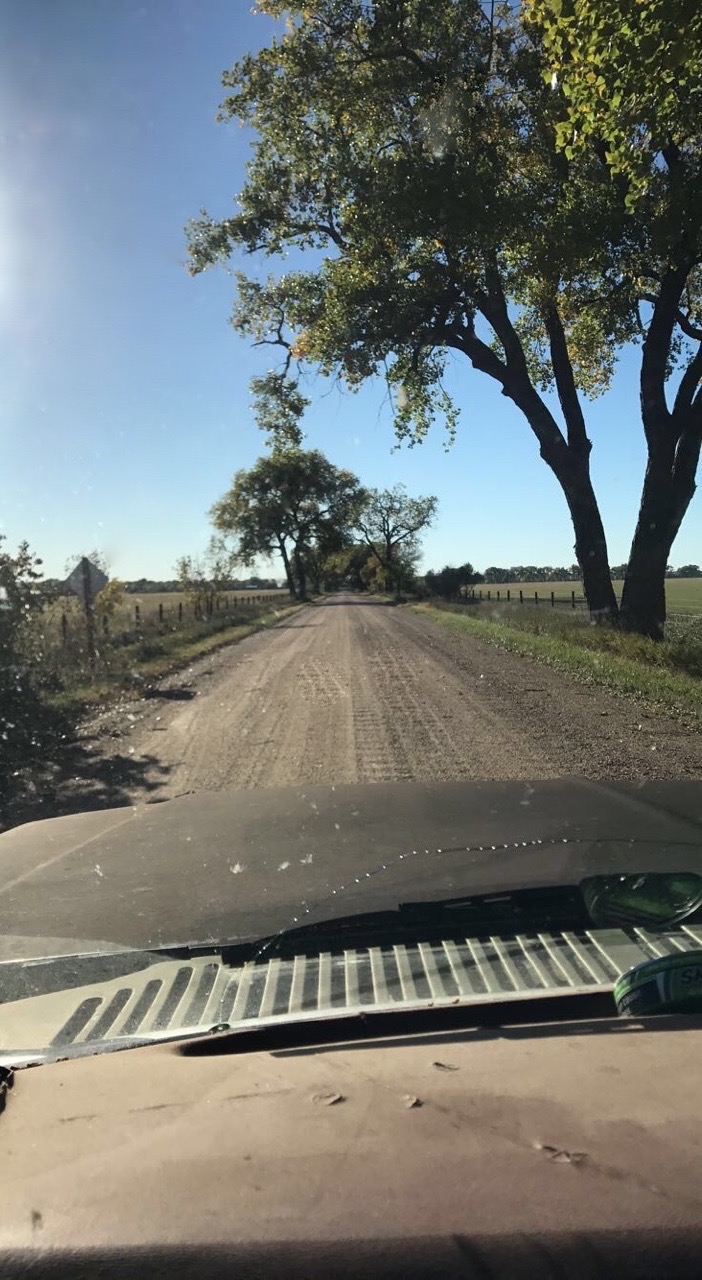 Most of the roads in Nebraska are unpaved paths.