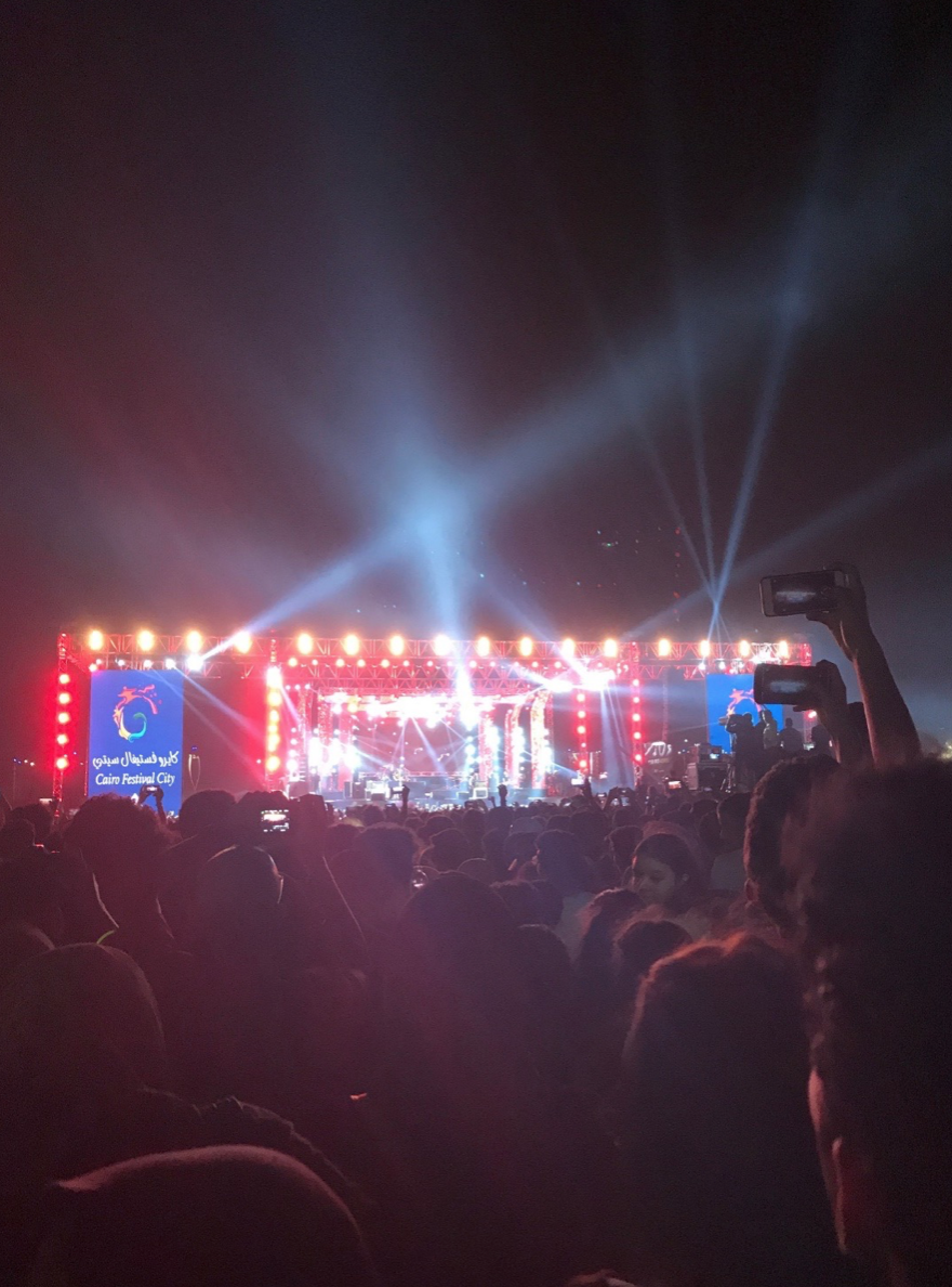 Mashrou' Leila's September concert in Cairo.