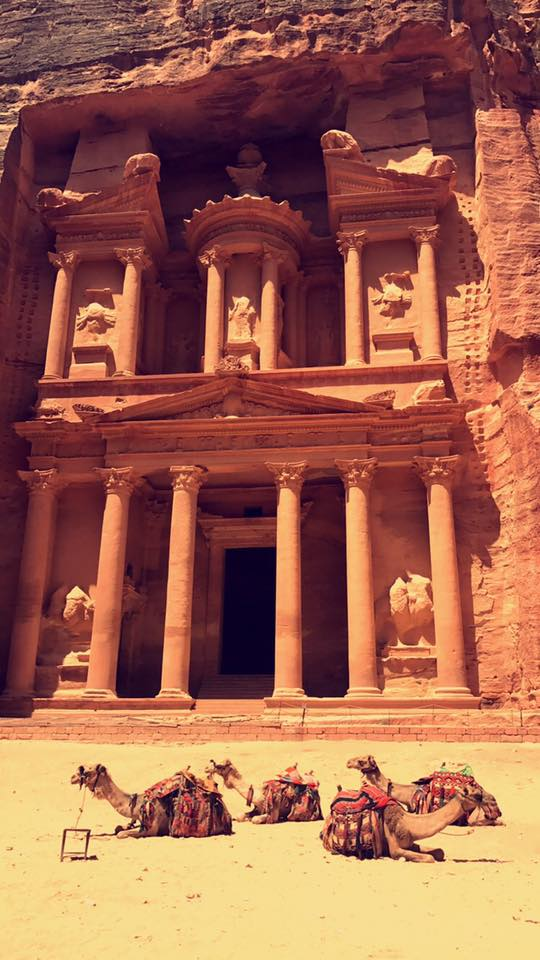The Lost City of Petra, Jordan.
