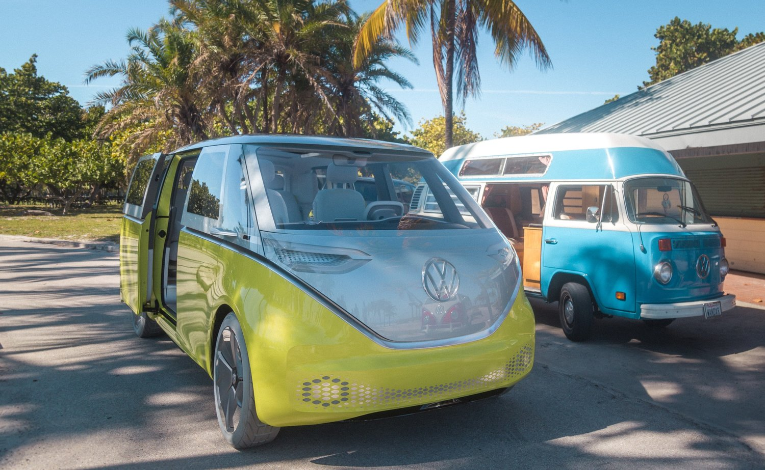 VW is rethinking the VW love wagon of the 60's with a fully electric autonomous version.