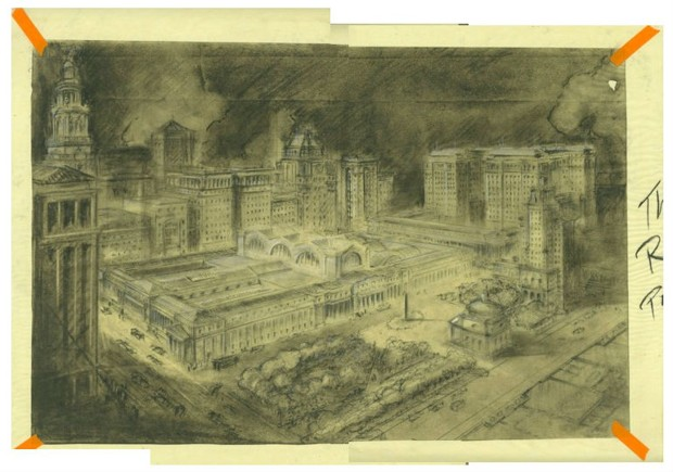 Charcoal on tracing paper by Richard Cameron. (Atelier & Company)