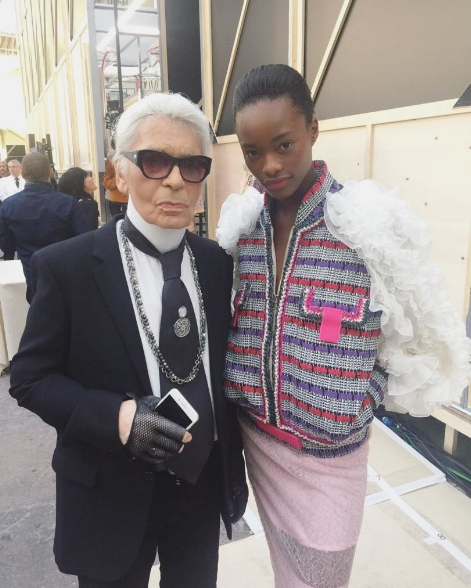Five Brilliant New Black Models Taking The Catwalk by Storm - Mayowa Nicholas and Karl Lagerfield