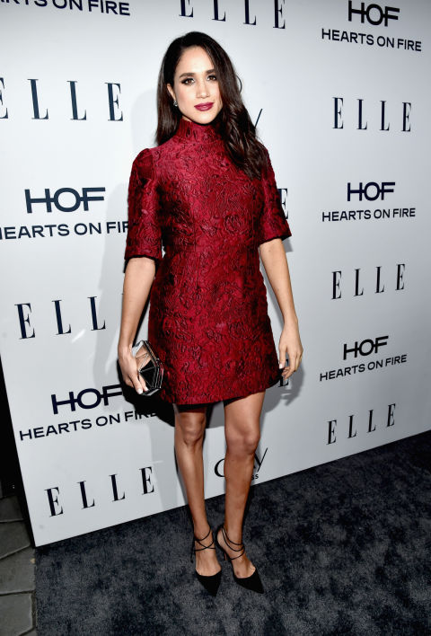 Meghan Markle wore this brocade Dolce and Gabbana dress to attend ELLE's 6th Annual Women In Television Dinnerin January 2016