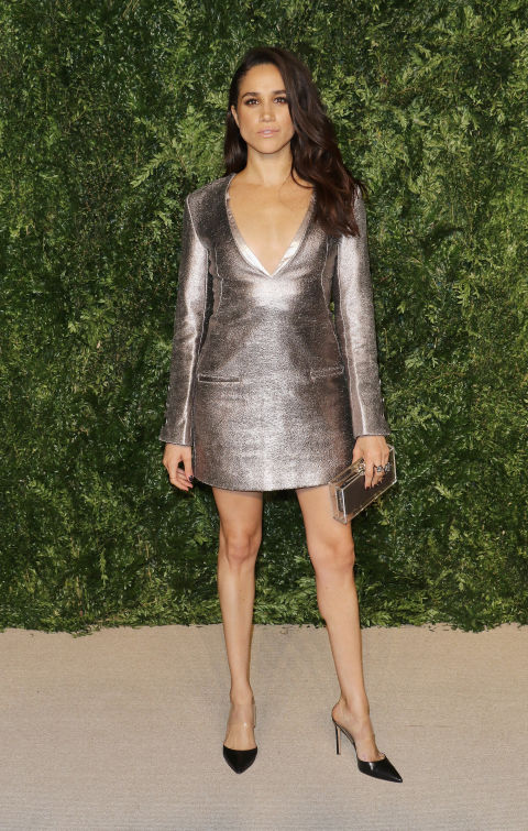 This metallic mini is by one of Meghan's favorite designers Misha Nonoo  for the 12th annual CFDA/Vogue Fashion Fund Awards in November 2015.