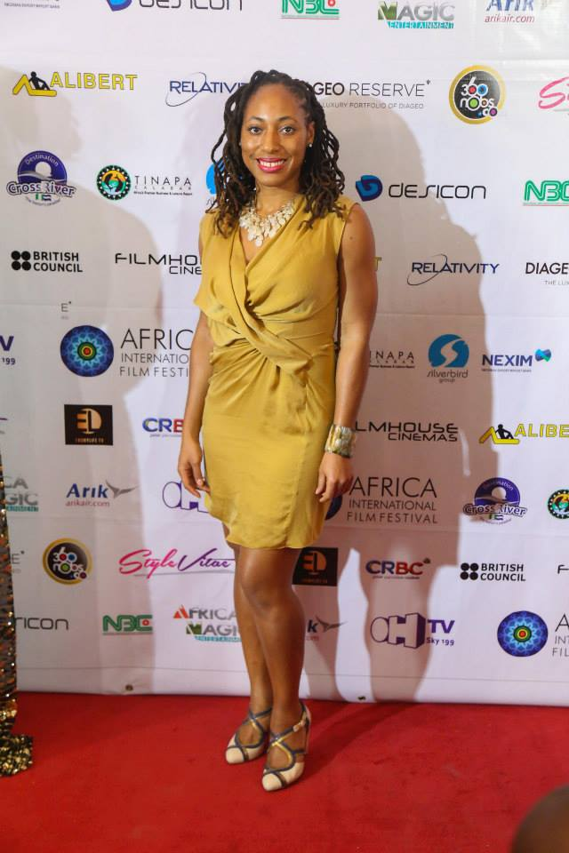 Director Iquo B. Essien at AFRIFF 2014 Red Carpet