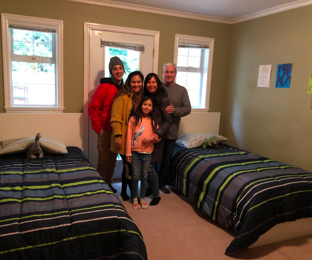 Boys bedroom now rocking it! Mattresses donated and delivered by the Goguen team. Sheets, pillows, mattress and pillow protecters from Nadine Shepard and Duvet and sheets from Mara Sinclair and family.