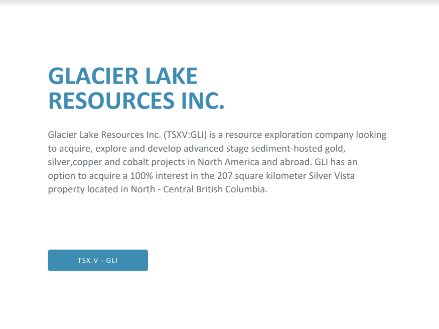 Glacier Lake Presentation