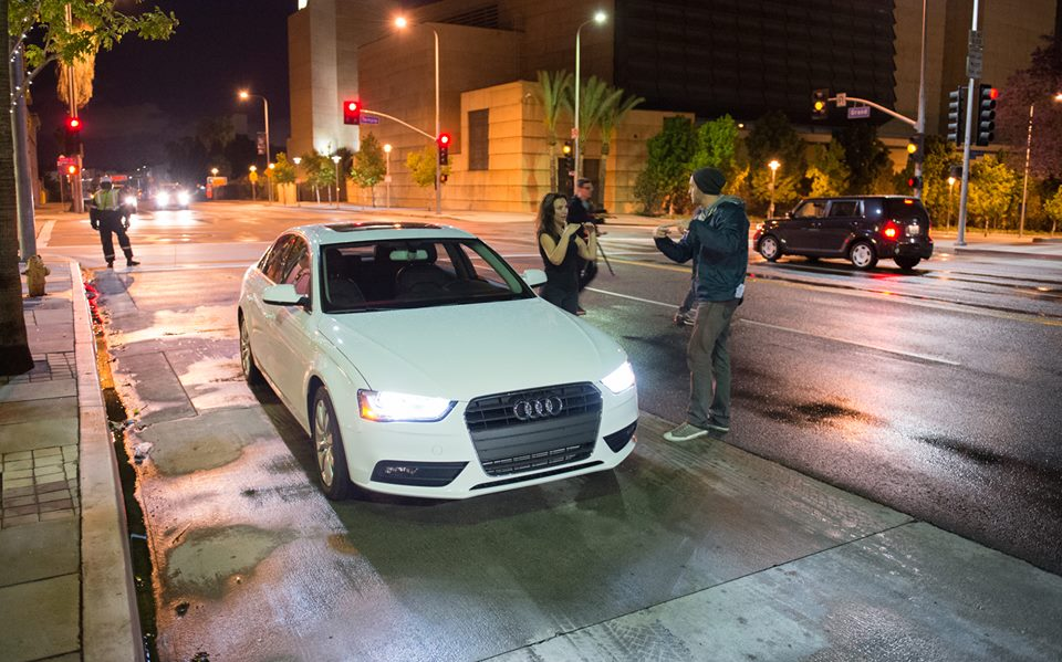 Taking direction for an Audi shoot
