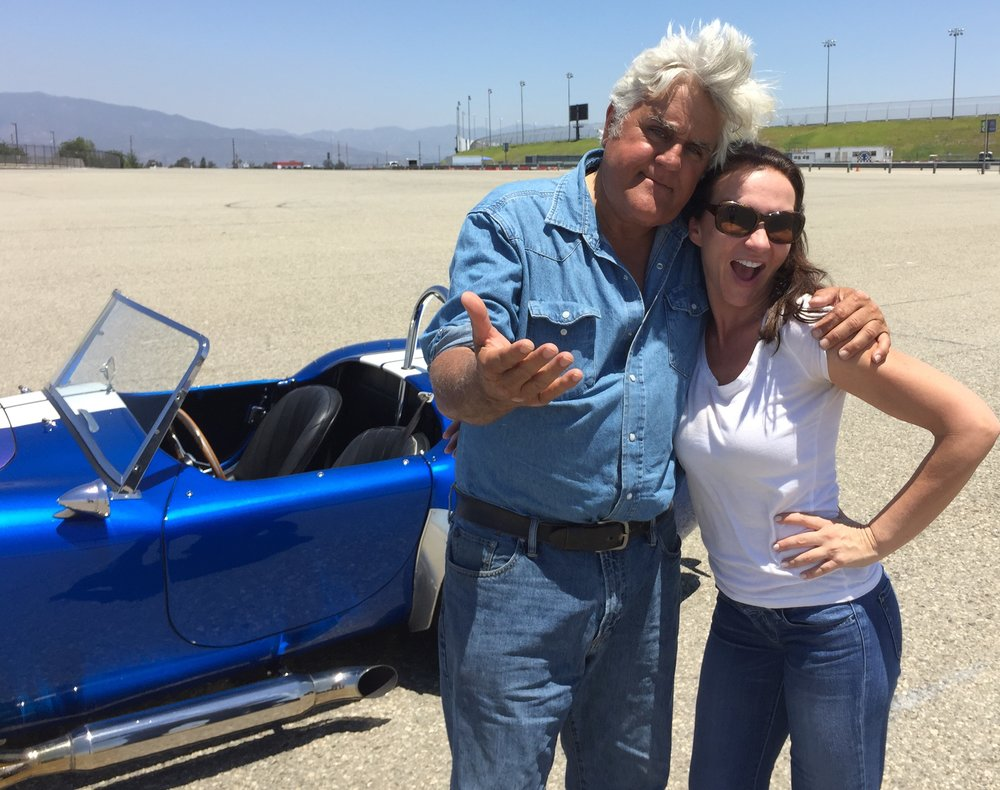 With fellow gearhead Jay Leno