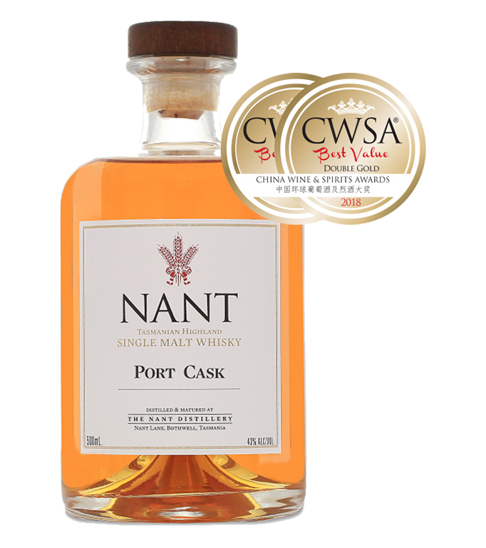 CWSA 2018 Double Gold Medal - Port Cask 43%