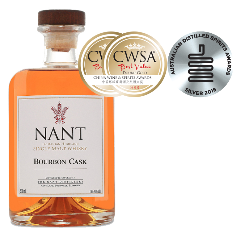 CWSA 2018 Double Gold Medal and ADSA Silver Medal - Single Malt Whisky, Bourbon Cask 43%