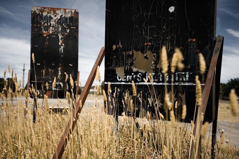Servo Signs at Trawalla, 2013