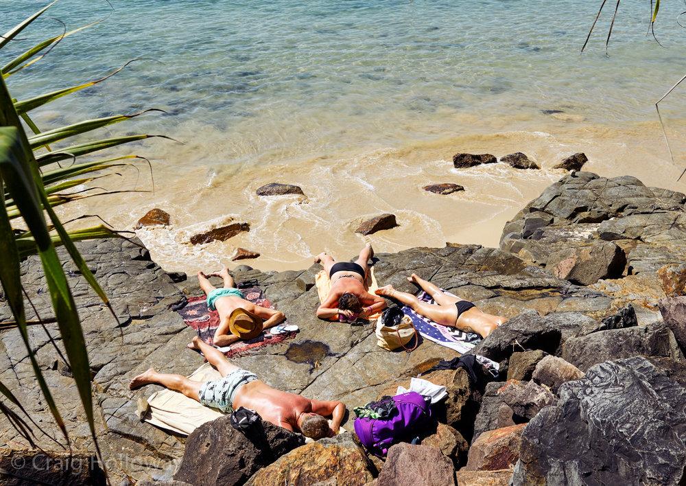 Sunbathers at Noosa