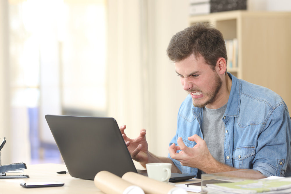 A bad website design can cause frustration in potential customers lowering conversion rates and physical customers.