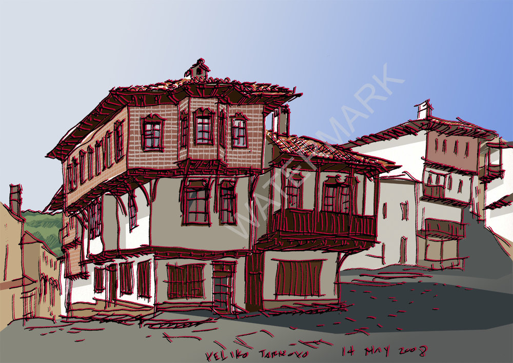 """veliko turnovo no.2"" sketch available on etsy.com"