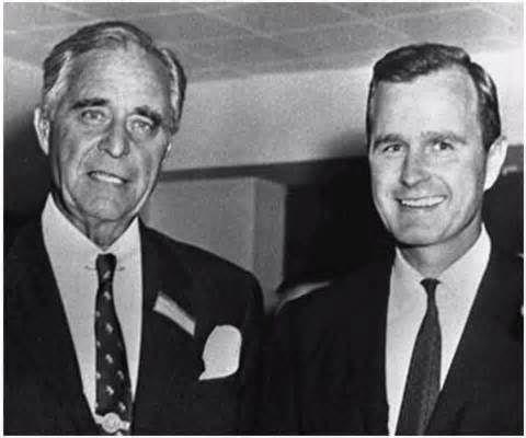 Prescott Bush and George Herbert Walker Bush
