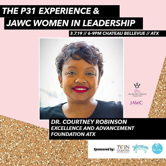 So excited to have Dr. Courtney Robinson the founder of Excellence and Advancement Foundation on our panel! She is doing such great work in the community and transforming how communities combat the school to prison pipeline and mass incarceration. She is a keystone of the Austin community and we are excited to learn about her journey as a successful entrepreneur! She has previously presented at sxsw edu 2017 and has appeared on seasons 3 & 4 of Blackademics. #atxequality #atxsocialjustice #atxlocal #atxlocals #atxleaders #atx #austintx #sxsw2019 #sxsw #atxwomen #atxwoman #austinwoman #changemaker #pbs #blackademics