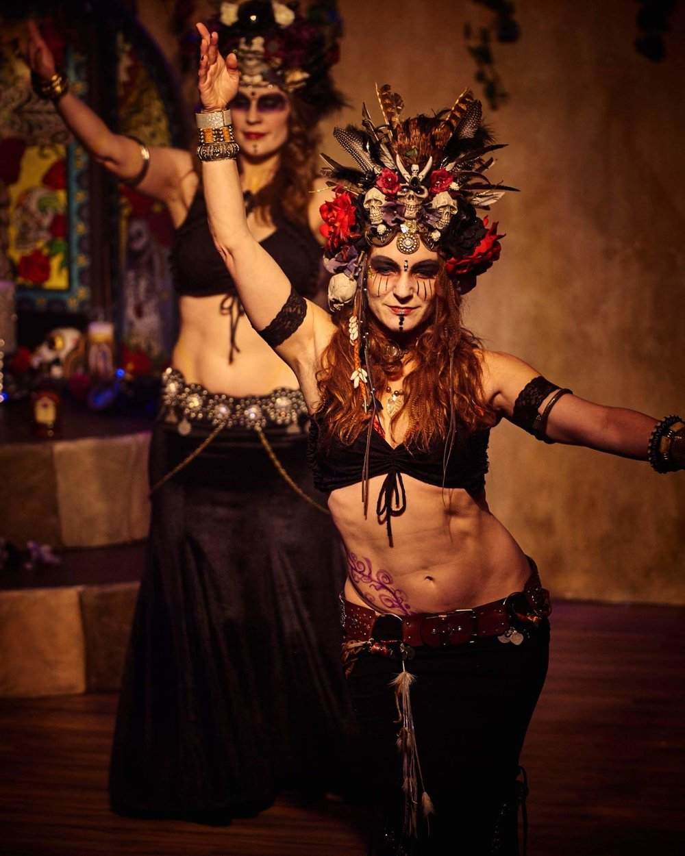 Le Cirque de la Nuit  'Dia De Los Muertos' Celebration. Photo courtesy of David Mockford.