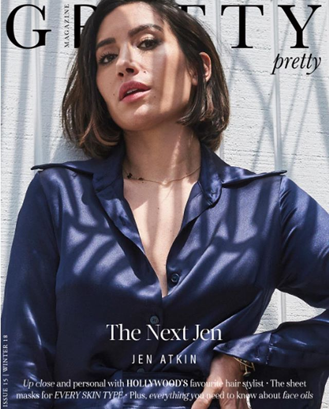 "Celebrity Hairstylist and founder of Ouai Haircare Jen Atkins, wore ""Kheir Sannai""Stance blouse & silk pants on the winter 2018 issue of @gritty_pretty Magazine. Photographer: @higgsy7 Stylist: @sydneystyleedit #GrittyPrettyMagazine #ouai #jenatkin #covergirl #kheirsannai #style #fashion #ootdfashion #fashion #losangeles #venicebeach"