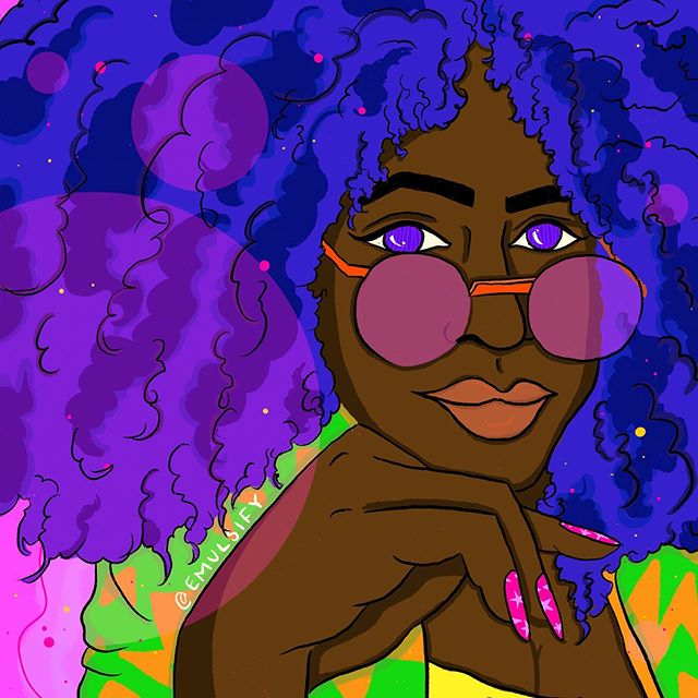 @femme.zaddy posted the cutest selfie yesterday and I hadddd to draw them 🥰😍 . . . . . . . . . . . . #art #artists #qpoc #illustration #emulsifyart  #undocuart #procreate #fromtheheart #love #queerart #arttherapy #enby #feministart  #tender #heal #selfcare #community #r29regram #sketchaday  #illustrationoftheday #femmesofcolor #inspiration