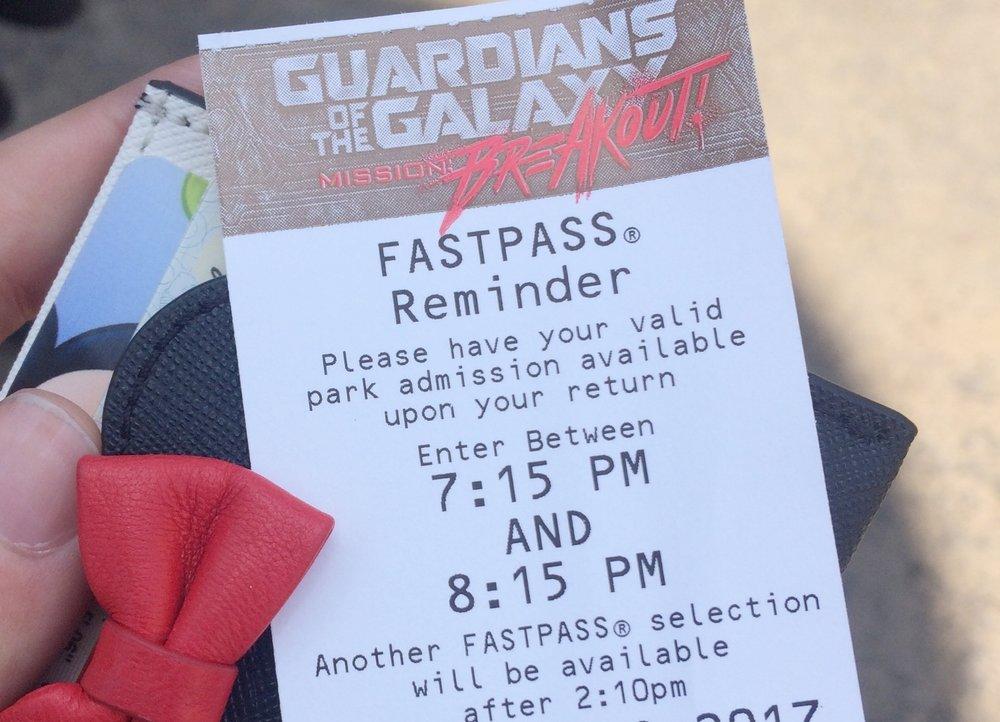 fast pass reminder
