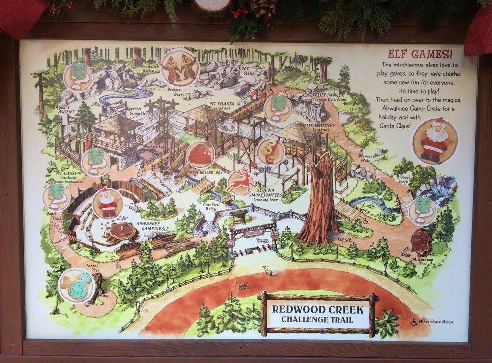redwood creek challenge trail santa holidays