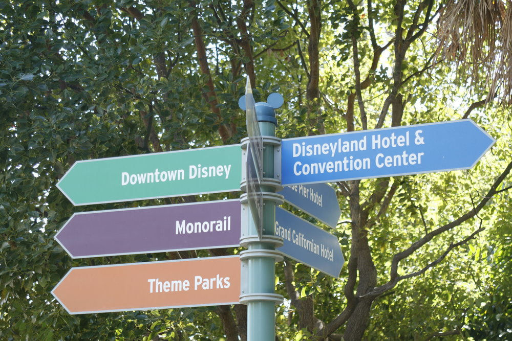 Disneyland Hotel Signage