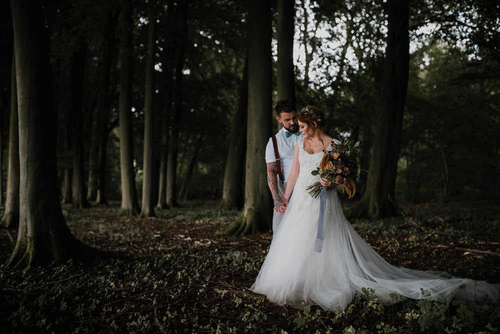 Pitt Hall Barn woodland wedding