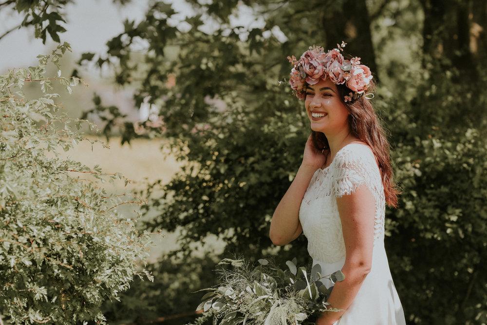 festival Bride in flower crown