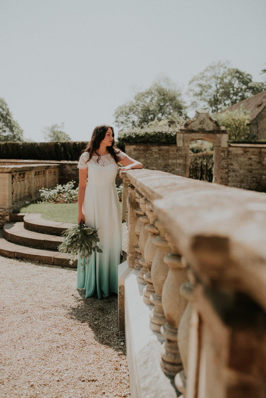 Boho Bride outdoors