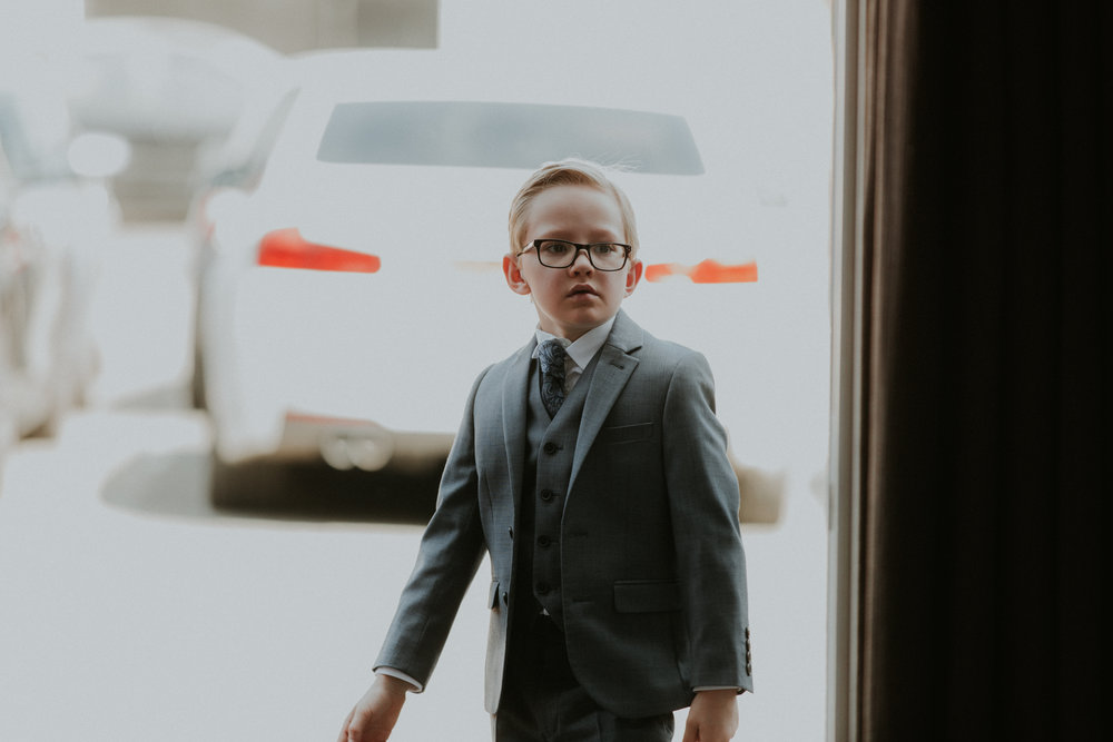 Nephew at wedding