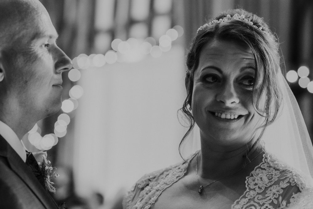 Black and white Bride photo