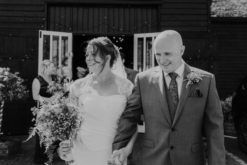 Berkshire couple marry in Barn