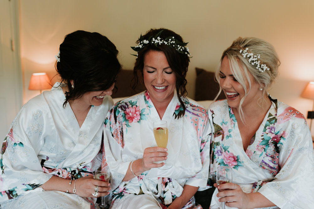 Bride and bridesmaids at Olde Bell Hurley