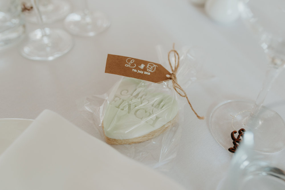 personalised wedding biscuit favours