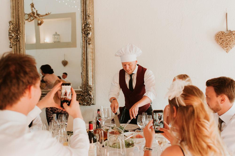 sharing platter wedding breakfast