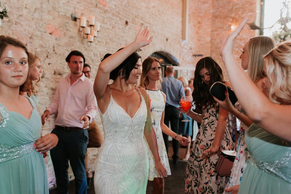 Bride dancing Merriscourt