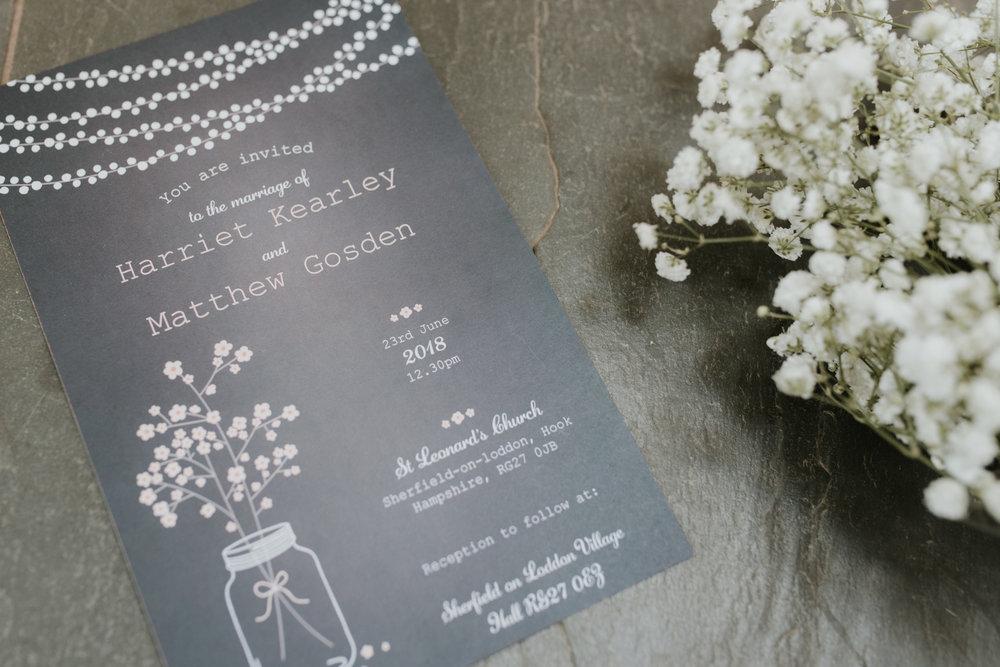 wedding invitation Reading