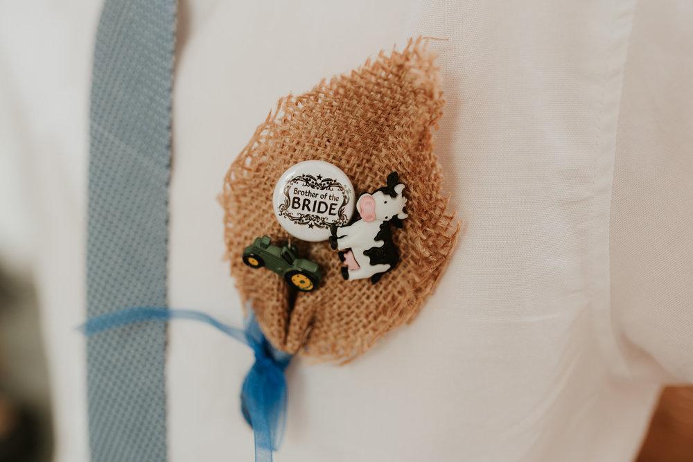 handmade child's buttonhole