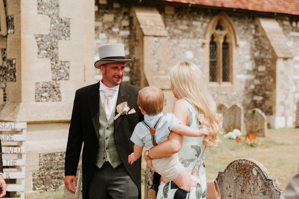 Groom before wedding