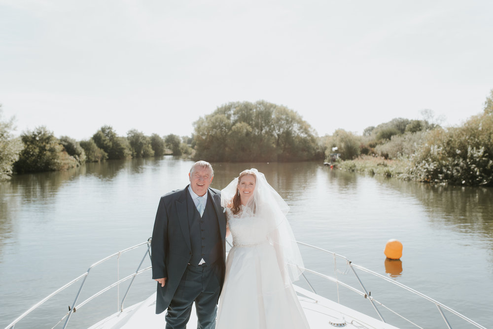 wedding photos on boat