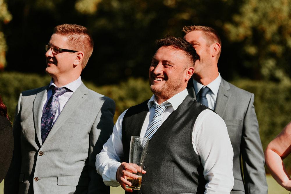 happy wedding guest Berkshire