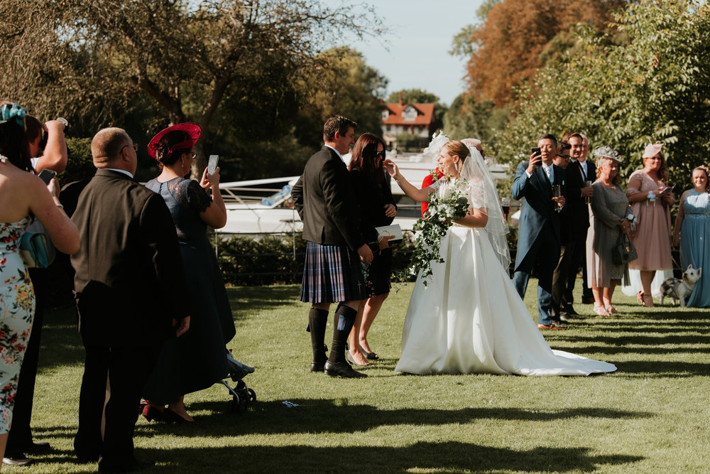 Bride receiving line Sonning