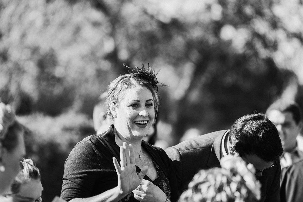 Black & white wedding guest Sonning