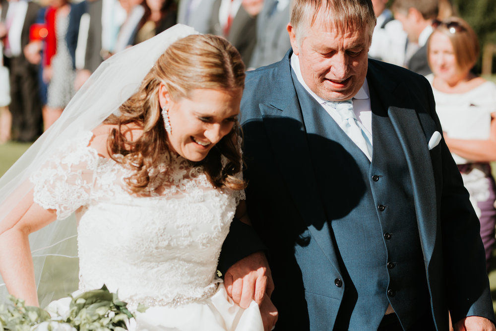 Bride and Dad arriving Berkshire