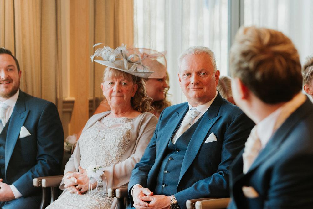 Grooms parents wedding ceremony