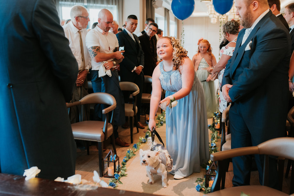 Bridesmaids with dogs Great House Sonning