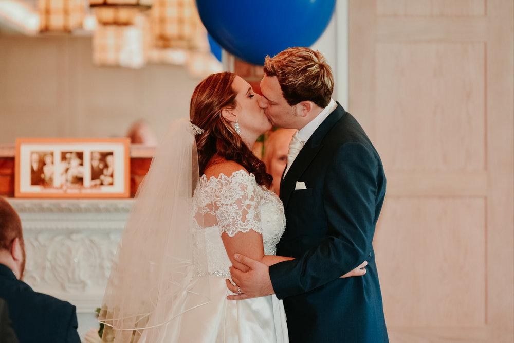 First kiss wedding photographer Berkshire